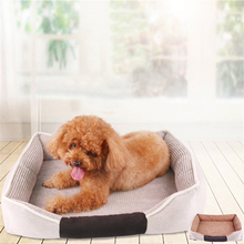 Warm Cozy Dog Kennel Foldable Washable Pet Bed Soft Pets Plush Sleeping Beds Mat Double-sided Puppy Baskets House Cat Nest large pet cat dog bed 2colors warm cozy dog house soft fleece nest dog baskets house mat autumn winter waterproof kennel