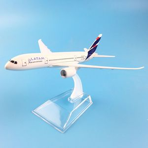 16CM LATAM Airlines metal Diecast aircraft model ,Airbus airplane model Kids Toys plane children New Year/Birthday/Collections(China)