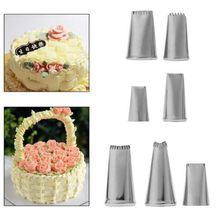 New 7pcs/lot Stainless Steel Russian Flower Icing Piping Nozzle Cake Decoration Cream Tips DIY Cake Bakeware Tool Rose Flower(China)