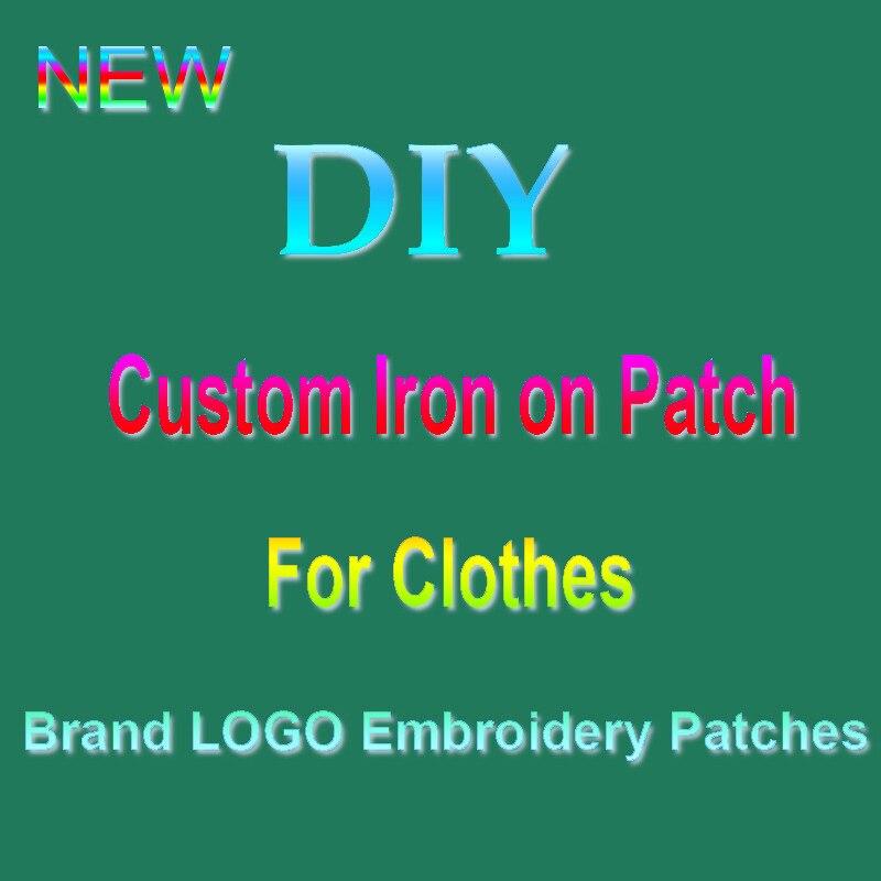 Нашивки с вышивкой «сделай сам» на заказ, приклеиваемые утюгом нашивки для одежды с логотипом бренда, нашивки на одежду, ручная работа, знач...