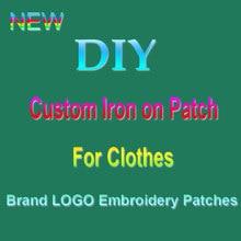 Patchs brodés personnalisés à coudre/à repasser, pour vêtements, Logo de marque, patchs sur vêtements, Badge fait à bricolage main, bandes de décalcomanie lavables