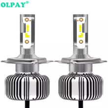 OLPAY 2PCS Car headlight  Lamp H7 LED Bulbs H4 LED H1 H7 H8 H11 Headlamps Kit 9005 HB3 9006 HB4 For Auto 12V LED Lamp 60W 6000LM ev12 car headlight led h7 h4 h1 9005 hb3 9006 hb4 h11 60w 6000lm auto dob led lamp 12v ice blue car light plug and play