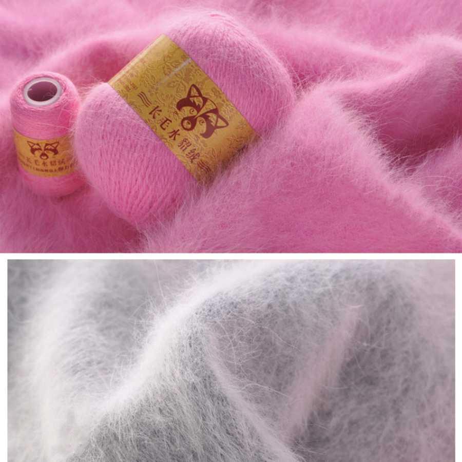 50 + 20 G/set Hand-Breien Lange Pluche Nertsen Kasjmier Garen Hoge Kwaliteit Haak Draad Voor Vest Trui Hoed voor Vrouw
