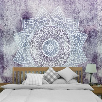 Printed Lotus Tapestry Bohemia Boho Mandala Tapestry Wall Hanging Wall Decoration Hippie Tapestry Beach Towel Yoga 5sizes TAP211 2
