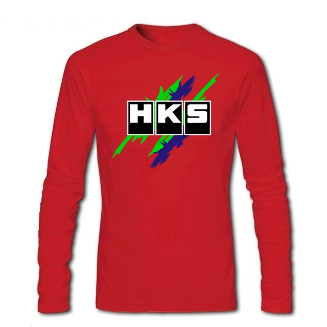 Mens tshirts Brand Car Auto <font><b>HKS</b></font> Men <font><b>t</b></font>-<font><b>shirt</b></font> youth street Skateboard pullover tees male long sleeve <font><b>t</b></font> <font><b>shirts</b></font> spring topshirt image