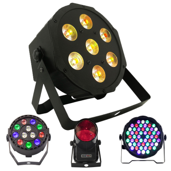 1PCS LED 7x18W RGBWA+UV Par Light with DMX512 6in1 Stage Light Wash Effect DJ Disco 7x12W 54x3W 12x3W Mini Led Spotlighting 10W 1