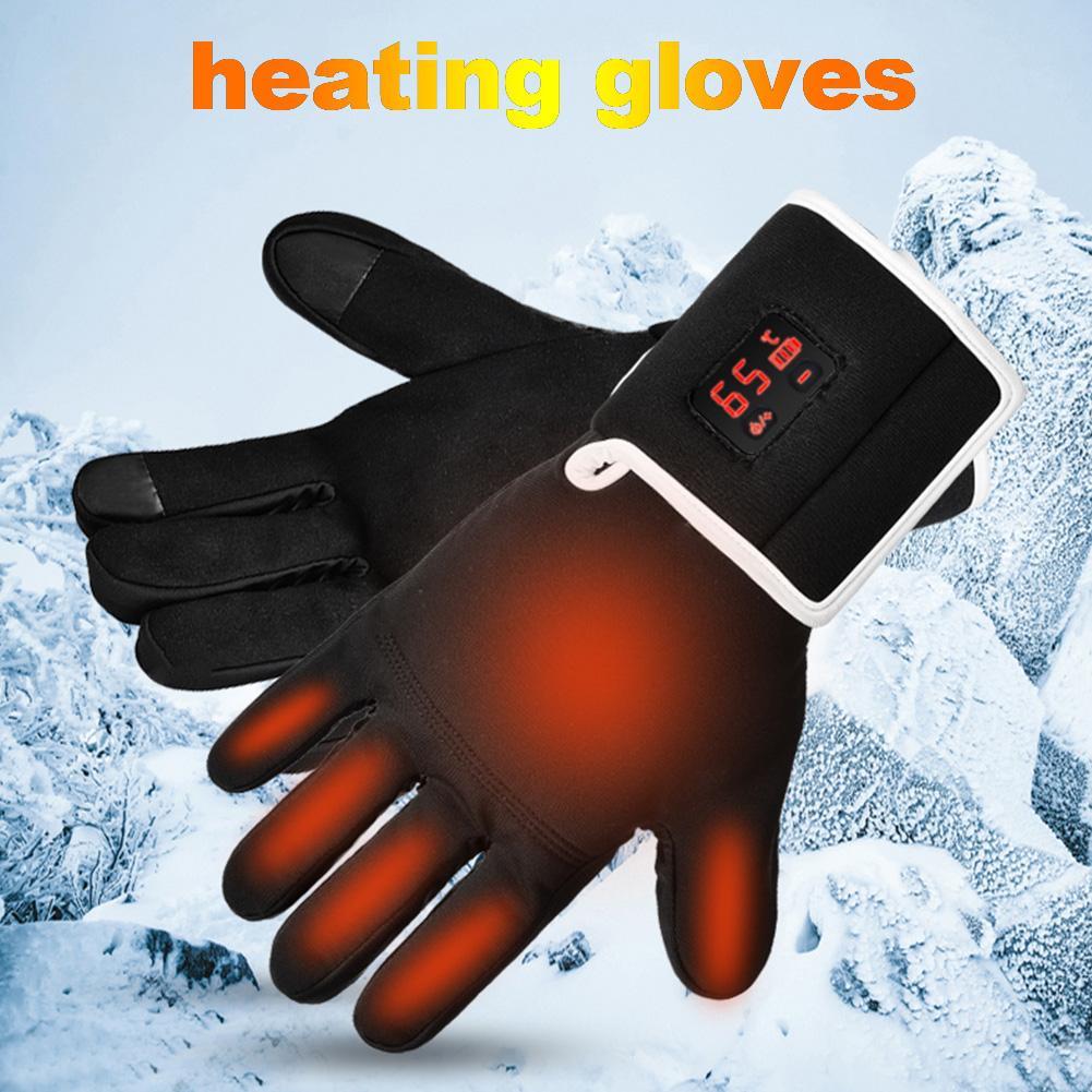 Перчатки с подогревом, водонепроницаемые перчатки с электрическим подогревом для сенсорных экранов