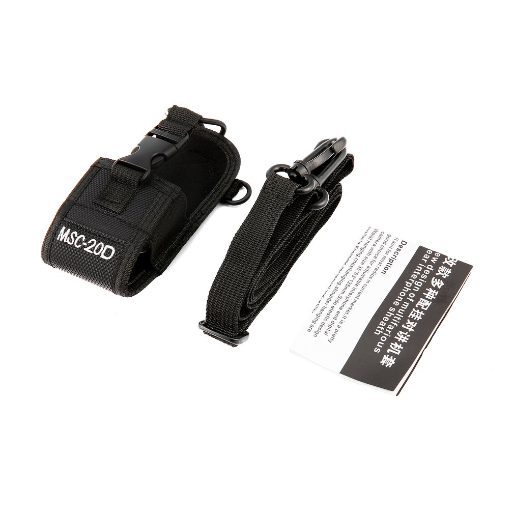 MSC-20D Radio Case Nylon Walkie Talkie Holder Universal Adjustable Strap Portable Sleeve Interphone Sheath For BaoFeng
