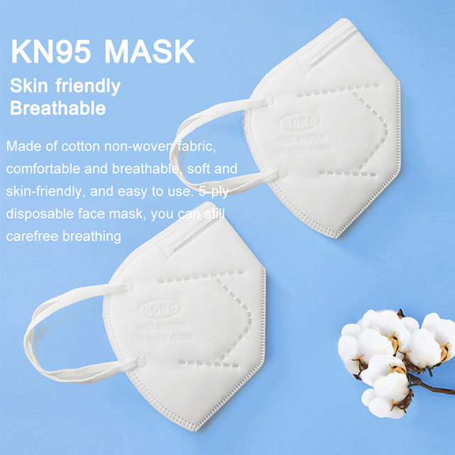 100PCS KN95 Safety Face Mask 5 ply Safety Mask Anti Dust Anti Pollution Flu Face Mask Unisex N95 Anti5 Anti-fog PM2.5 Mouth Mask 2