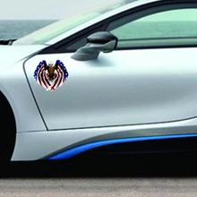 цены Car Decal Flying Eagle Car Truck Hood Sideways American Flag Sticker Strong Visual Impact Multicolor Car Style