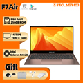 Ноутбук Teclast F7 Air, 14 дюймов, 8 ГБ, LPDDR4, 256 Гб SSD, Intel N4120, ноутбук 1920x1080, ОС Windows 10, 180 °, 1,18 кг, Type-C, Mini HDMI