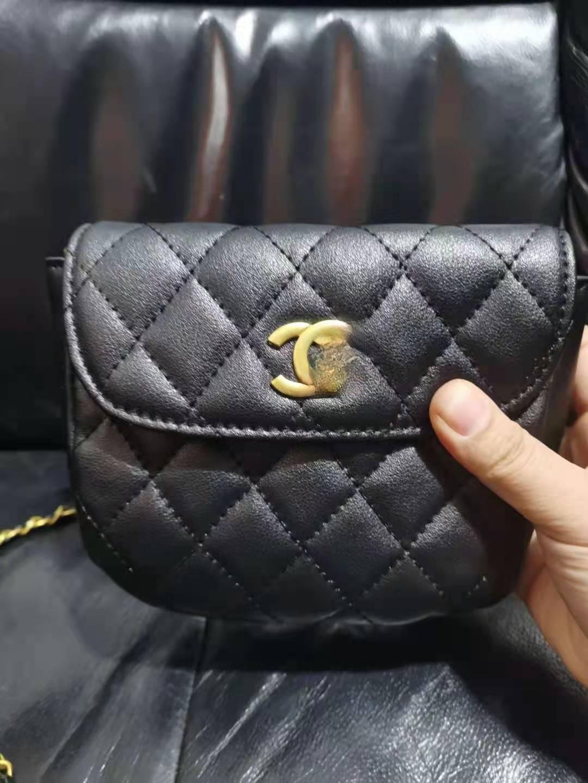 2021 New Small Golden Ball Waist Bag, Rhombic Chain Multi-purpose Bag, Women's Fashion One Shoulder Messenger Bag