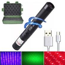 Green Laser Sight Laser USB Charge 303 Laser Pointer Light 532nm 5mw High Power Device Lazer laser Pen Burning