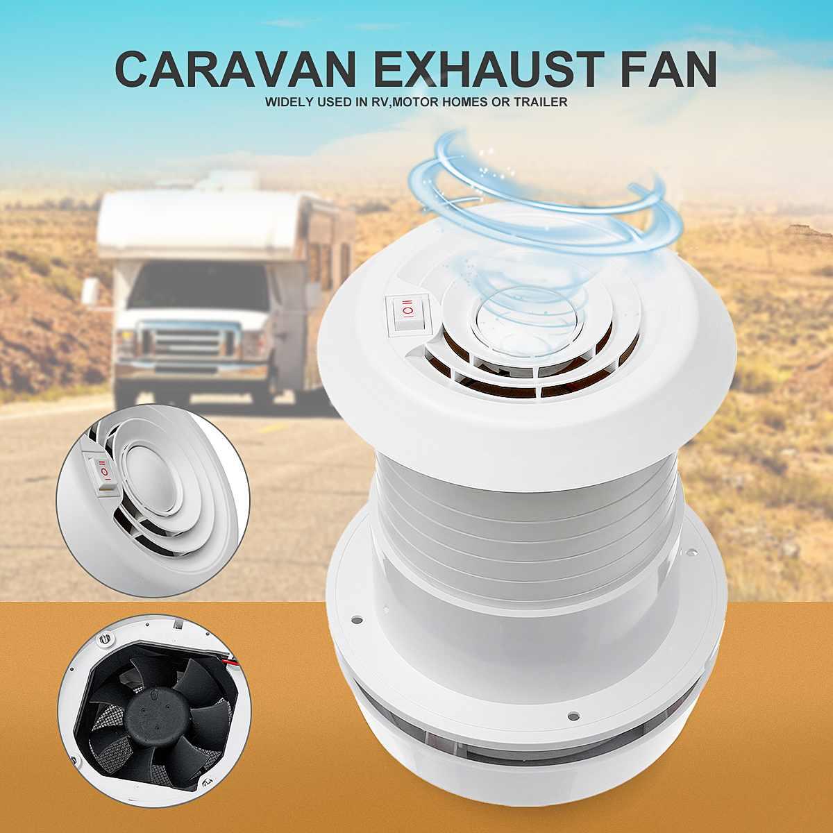 12V RV Energy-saving Motorhome Noiseless Roof Vent Ventilation Cooling Exhaust Fan For Travel Motor Homes Trailer