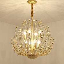 Modern Gold Crystal Chandelier Lighting For Living Room Bedroom Kitchen Luxury Lustre Ceiling Chandeliers Light Fixtures