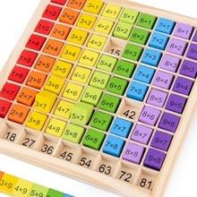 Giocattoli educativi in legno Montessori per bambini giocattoli per bambini 99 tabella di moltiplicazione supporti didattici aritmetici matematici