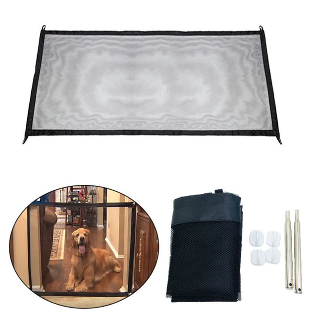 Portable Mesh Foldable Dog Fence For Indoor & Outdoor Pet Safety Enclosure  3