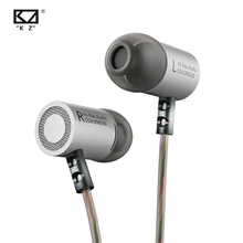 KZ ED4 Metal Stereo Earphones with HD Microphone HiFi Headset Bass Earbuds Monitor Noise Isolating Earpiece Original Headphones