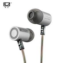 Kz ed4 metal estéreo fones de ouvido com microfone hd alta fidelidade fone baixo monitor isolamento ruído original