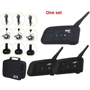 Image 1 - 3 Users Football Referee Intercom Headset V4C Vnetphone V6C 1200M Full Duplex Bluetooth Headphone Soccer Conference Interphone