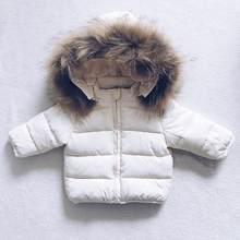 CYSINCOS Baby Girl Boy Clothes Kids Winter Jacket For Kids Girls Solid Hoodie Baby Winter Coat Cute Warm Baby Boy Winter Jackets(China)