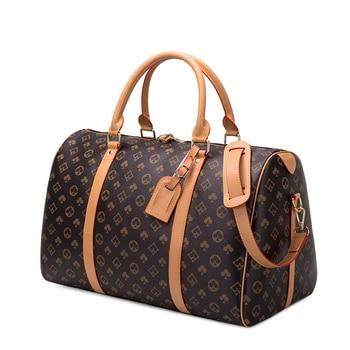 Moda à prova dwaterproof água sacos de viagem homens/mulheres fitness bolsa de ombro de couro bolsa de negócios grande viagem tote bagagem saco masculino/feminino 1