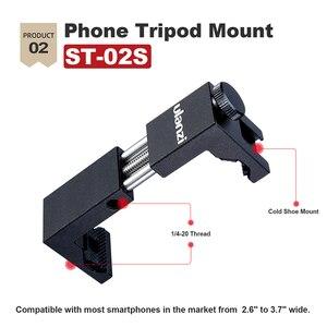 Image 4 - Ulanzi IRON MAN Aluminio Universal Del Teléfono Soporte Ajustable de Soporte de Clip Adaptador de Montaje de trípode para el iphone 7/7 Plus Android Smartphone