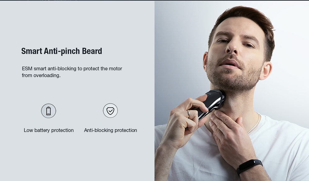 wet & seco dupla utilização de barbear elétrico masculino