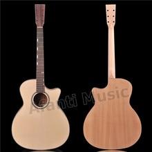 41 дюймов Акустическая гитара комплект/твердая ель Топ/Sapele назад и стороны/DIY гитары Комплект AFANTI Акустическая гитара(AFA-953S
