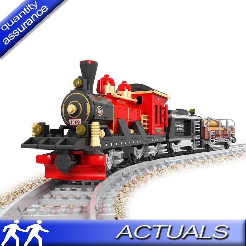 Model Building City Train Rail Blocks Educational Model Building Toys Children Compatible legoed