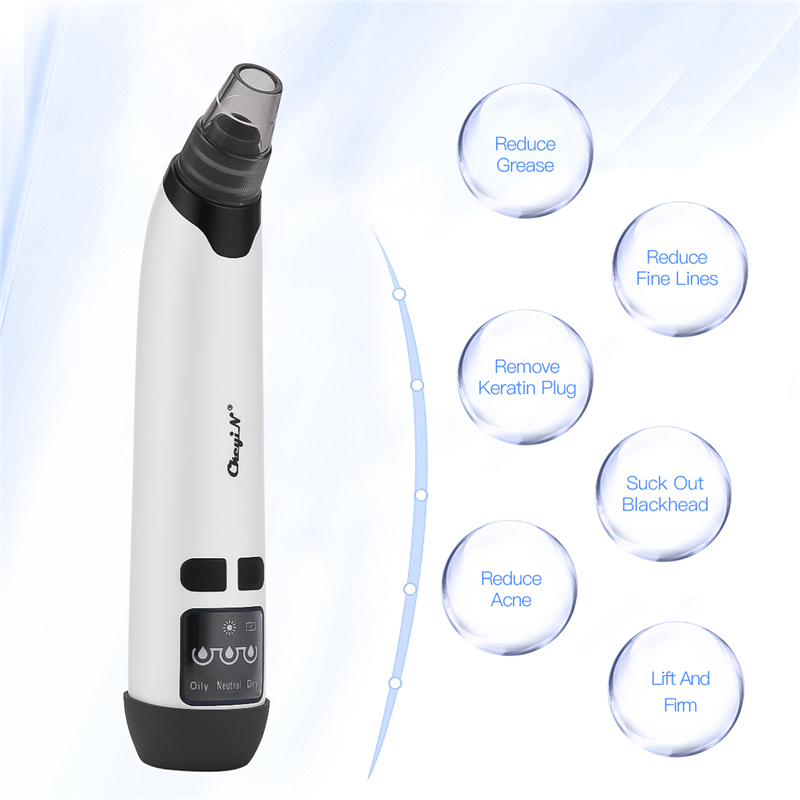 Vacuum Blackhead Remover Nose Facial Pore Cleaner 3 Modes Skin Suction Acne Remover Pimple Cleaner Skin Care Tool Face Machine