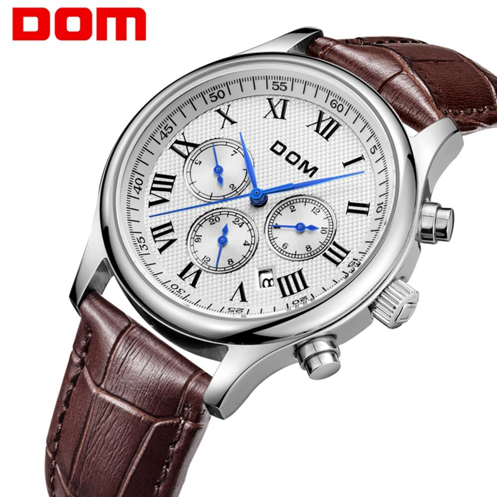 DOM Watch Men Mechanical Wristwatch Top Brand Waterproof Men Watch Automatic Multi-function Business Sport Watches Men M-56L-7M