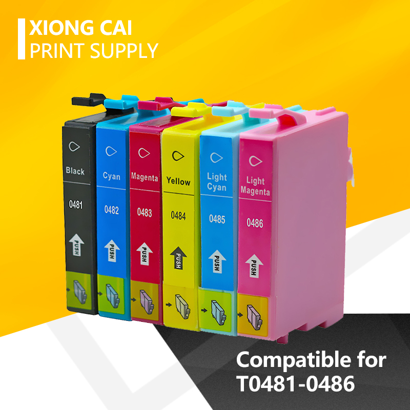 T0481 compatible ink cartridge For <font><b>Epson</b></font> Stylus Photo <font><b>R200</b></font> R220 R300 R300M R320 R340 RX500 RX600 RX620 RX640 Printer 6pcs Full image