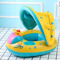 Надувное кольцо для мамы и ребенка, детский плавающий круг, двойные аксессуары для бассейна, надувные колеса, круги для плавания