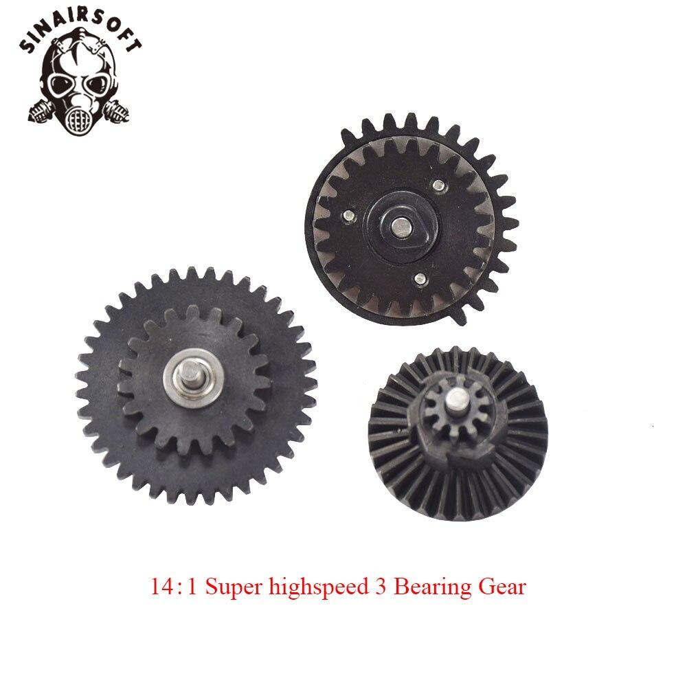 Hot BD Super Highspeed 3 Bearing Gear14:1 Airsoft Gear Combat Ver.2/3 Hunting Accessories CNC Machine High Speed Bearing Gear