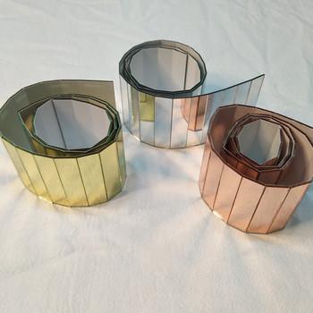 Mozaika szklana z lustrem prostokątna mozaika lustrzana tytuł lustra z żółtego złota tytuł lustra ze szkła różowego tanie i dobre opinie CN (pochodzenie)