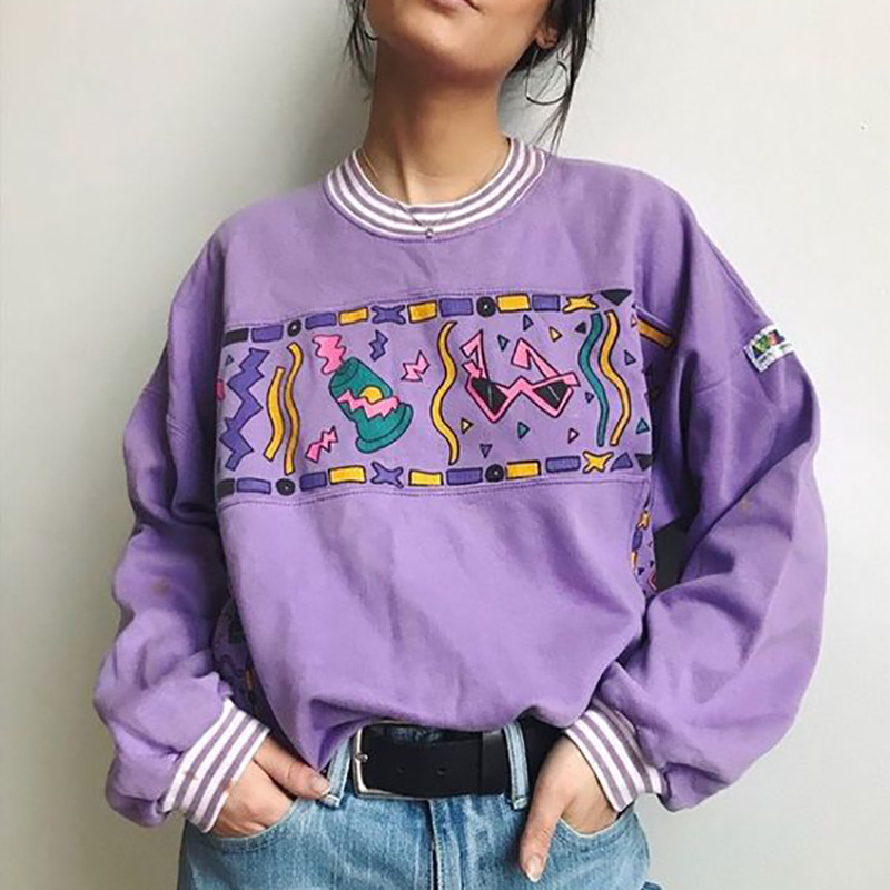 Spring 2020 Women's Clothing Printed T-shirt Casual O-Neck Harajuku Female T-shirt Long Sleeve Lady Top Pullovers Women Shirts
