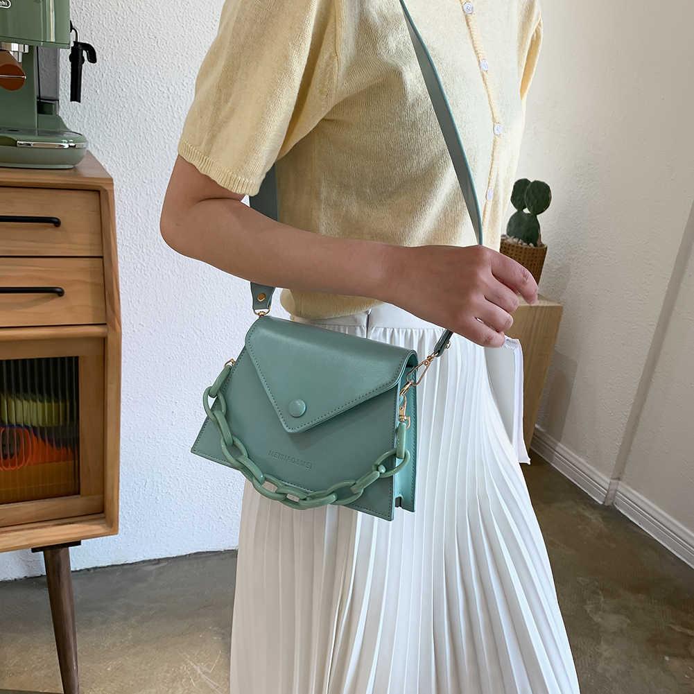 Dicke Kette Design Kleine PU Leder Umhängetaschen Für Frauen 2020 Weibliche Schulter Messenger Tasche Damen Handtaschen und geldbörse