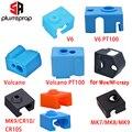 3D-принтеры Запчасти силиконовые носки для V6 вулкан MK8/MK9/CR10/CR10S с подогревом блок сохраняющий тепло; Крышка