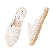 Tienda Soludos Espadrilles Slippers For For Flat 2021 Real Special Offer Hemp Summer Rubber Print Woman Shoes Mules Pantufa