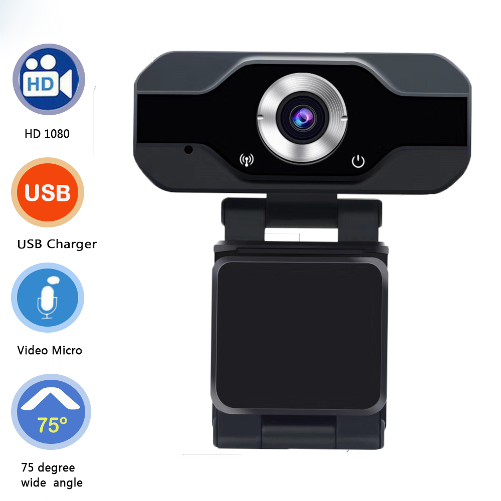 Skype Streaming Live Camera For Computer PC Laptop PVR006 USB Webcam Full HD 1080P Web Camera With Noise Cancellation Microphone