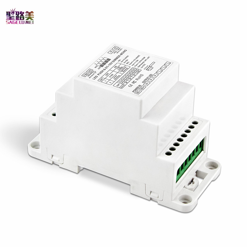 BC-331-DIN DIN Rail 0 / 1-10V To PWM LED Dimming Driver DC12-24V PUSH DIM Dimmable Led Dimming Power Driver For Led Strip Light