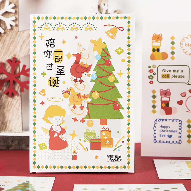 30 Pcs/Set Creative Spend Christmas With You Postcard DIY Greeting Card Message Card Birthday Letter Gift Card