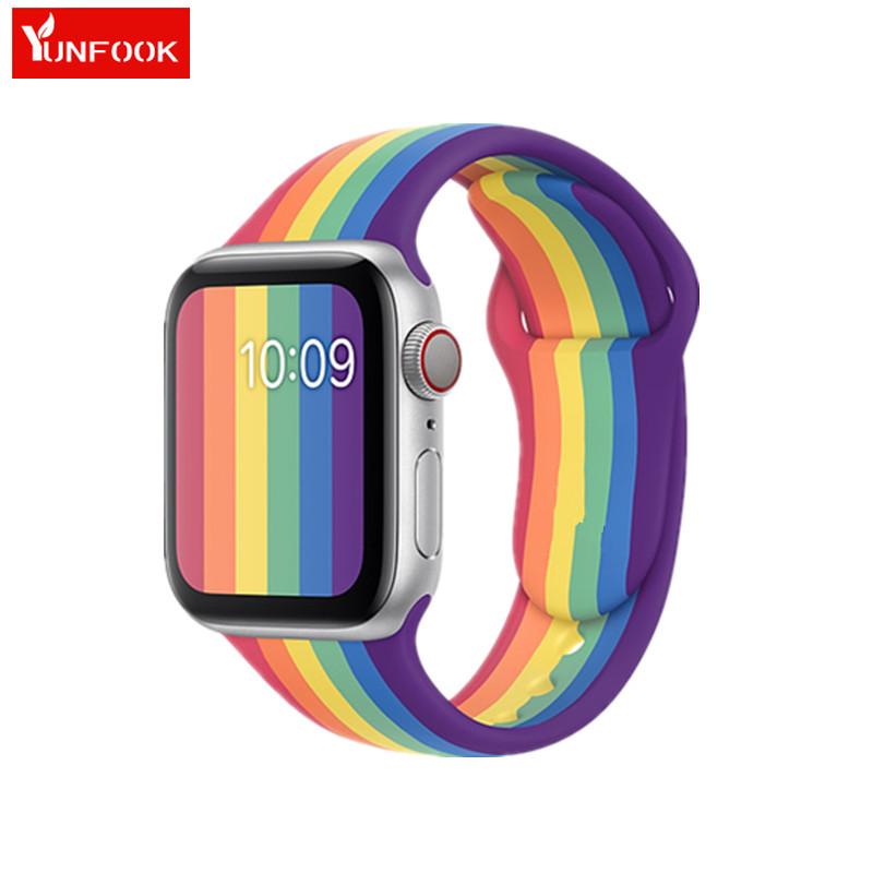 New Pride Edition Sport Band For Apple Watch Band 5 4 44mm 40mm New Colorful Silicone Strap Iwatch 3 2 1 42mm 38mm Iwatch Band