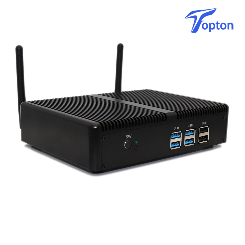 Image 3 - Tanie bez wentylatora DDR4 Mini PC i7 i5 7200U i3 7167U Win10 Pro platforma PC Nuc Mini komputer stacjonarny Linux HTPC VGA HDMI WiFiMini PC   -
