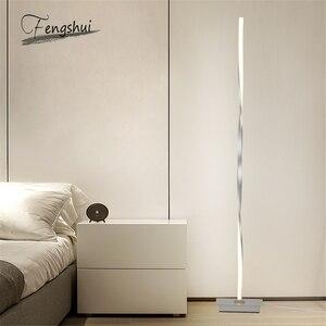 Image 2 - Nordic Led Vloerlampen Moderne Metalen Aluminium Schaduwloze Dimbare Led Staande Verlichting Armaturen Woonkamer Slaapkamer Decor Armatuur