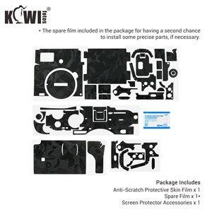 Image 5 - Cámara cuerpo etiqueta engomada para Sony A7C cubierta de la piel de la Anti Protector de arañazos de la piel Kit Anti deslizante Cámara accesorios de decoración