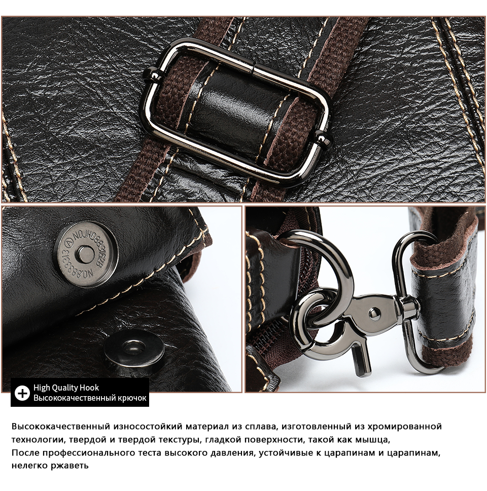 H56d3c67530bd48d286ba9fd6c4e8f0da1 Bag Men's Briefcase Genuine Leather Office Bags for Men Leather Laptop Bags Shoulder/Messenger Bag Business Briefcase Male 7909
