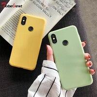 Soft Silicone Case For Xiaomi Mi 9 8 SE MI 8 Lite CC9E A1 A2 A3 Lite 5X 6X MIX 2 2S MAX 3 F1 Candy Solid Color Matte TPU Cover