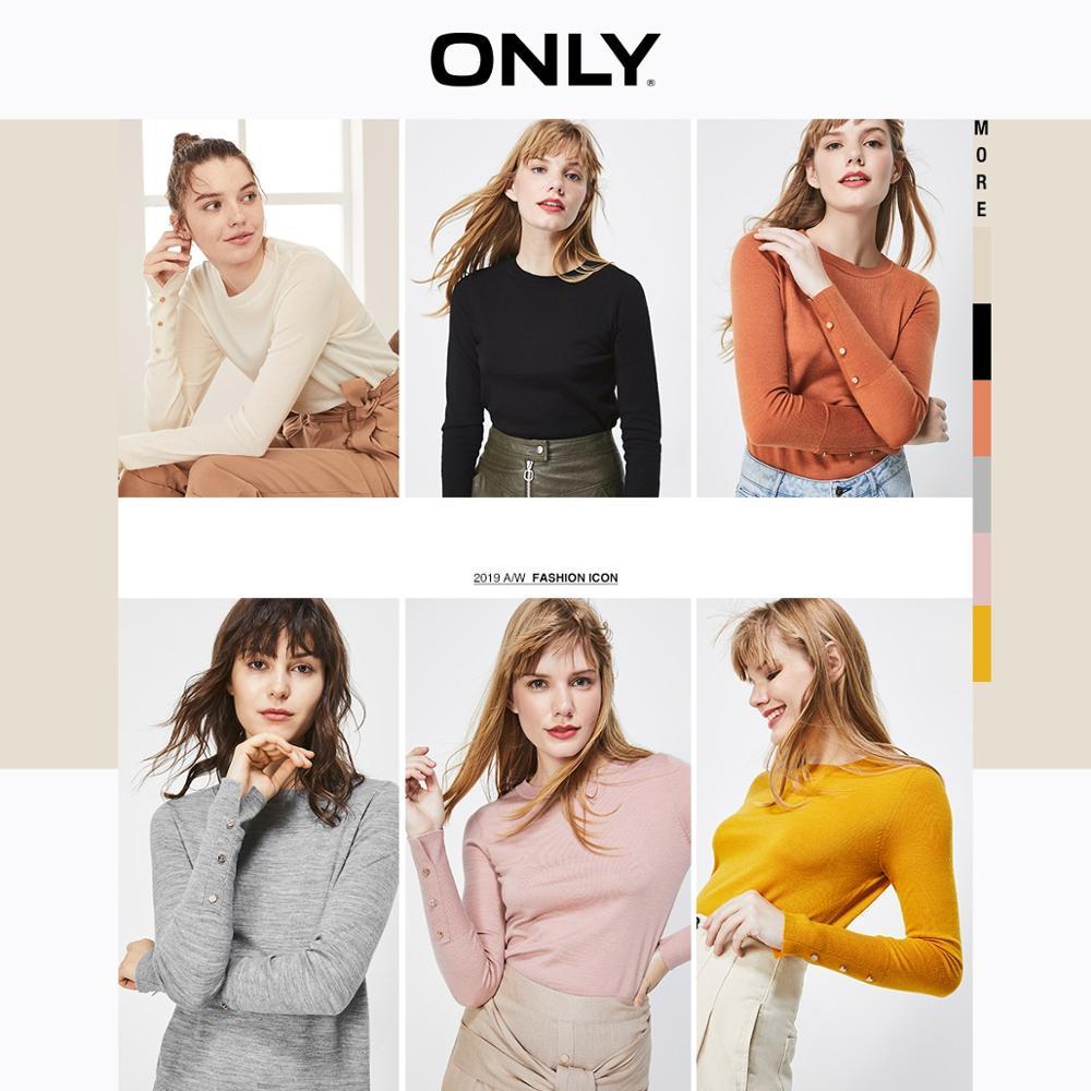 ONLY  Autumn Winter Women's Cotton-rich Thin Woolen Knit | 119324570